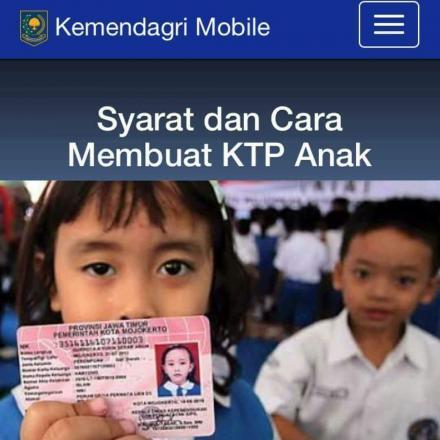 SYARAT DAN CARA MEMBUAT KTP ANAK / KIA ( Kartu Identitas Anak )